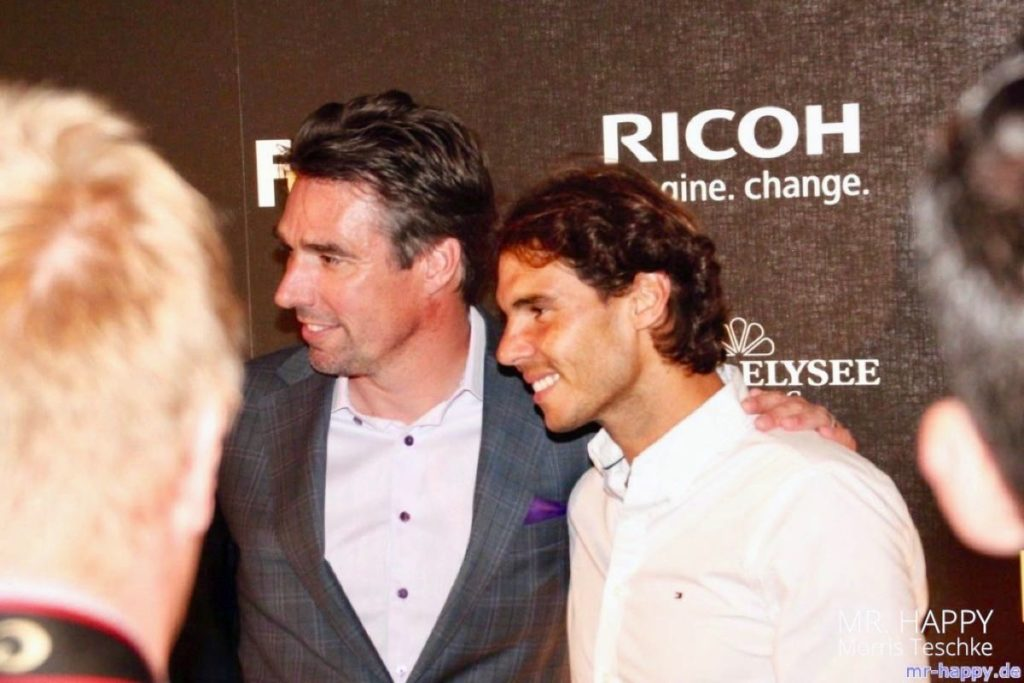 Michael Stich mit Rafael Nadal auf der Rothenbaum Players Night